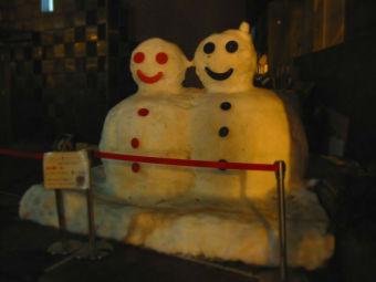 新潟の雪だるま