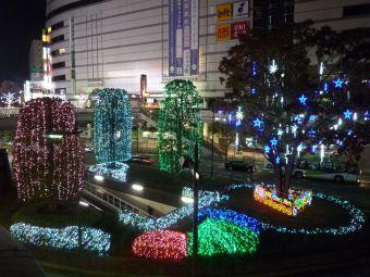 かわぐち光のファンタジー2014☆川口駅東口ロータリー