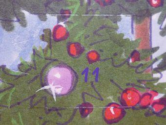 11日目はクリスマスツリーの上に
