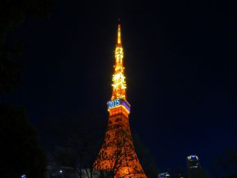 「2015」表示の東京タワー08