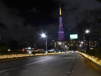 西暦「2016」表示の東京タワー03