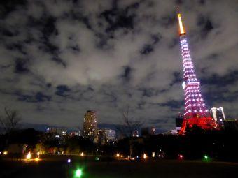 西暦「2016」表示の東京タワー05