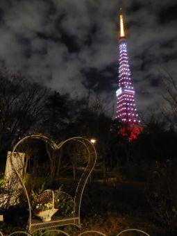 西暦「2016」表示の東京タワー07
