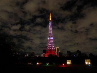 西暦「2016」表示の東京タワー08