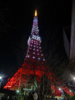 西暦「2016」表示の東京タワー13
